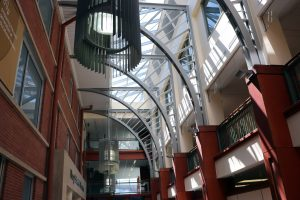 The interior of the Gentry building
