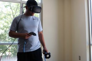 Two Summers student using virtual reality