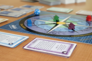 Influence Board Game laid on tabletop